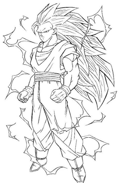 Goku Kleurplaat by Saiyan Coloring Pages Imagui