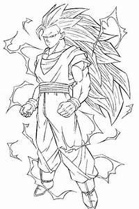 Dragon Ball Z Coloring Pages Goku Super Saiyan Coloring