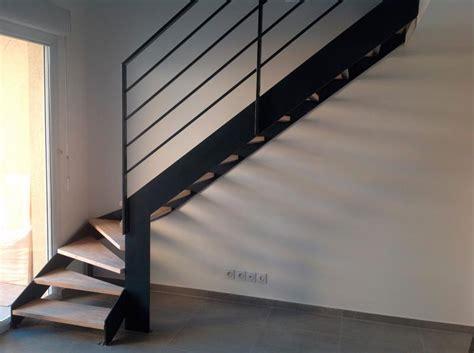 escalier m 233 tallique quart tournant bas avec palier