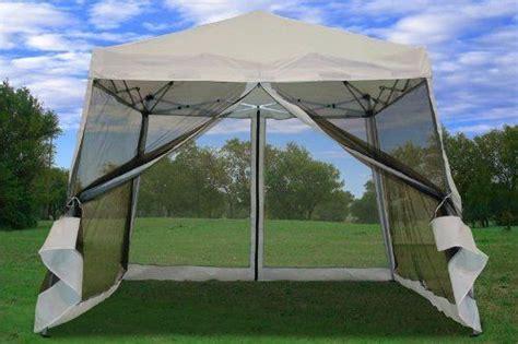 pop  canopy party tent gazebo ez  net white  great  camping