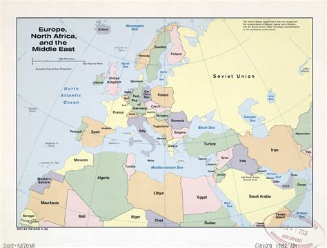 large detailed  political map  europe north africa