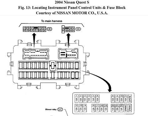 2004 nissan quest fuse box diagram 34 wiring diagram