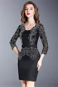 Robe Pour Temoin De Mariage : robe soir e fourreau pour t moin mariage dentelle ~ Melissatoandfro.com Idées de Décoration