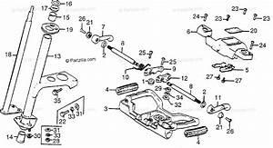 Honda Atv 1981 Oem Parts Diagram For Steering Wheel
