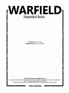 Warfieldexpanded Rules