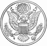 Seal Coloring Presidential States United Clip Bah P257 Clipart Cliparts Wikimedia Commons Popular Pixels Coloringhome Library sketch template