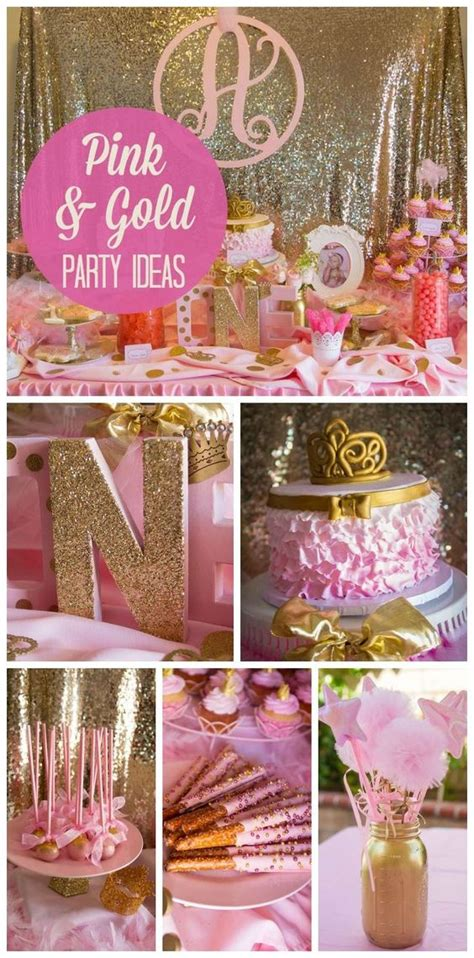 pink and gold birthday themes pink and gold theme sweet 16 or complianos