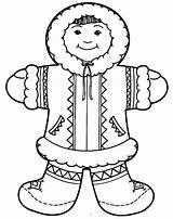 Eskimo Coloring Inuit Polar Clipart Bambini Bear Colorluna Cartoon Tiger Inuits Colorare Disegni Vestito Africano Resultado Kleurplaten Poolgebieden Craft Bambino sketch template
