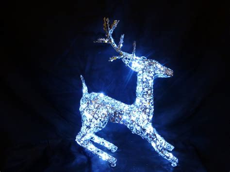 christmas decorations light  cm silver reindeer led