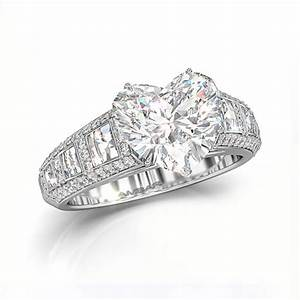 heart shaped engagement ring With shaped wedding rings