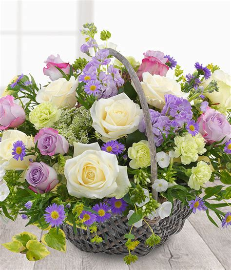 country garden style basket the flower bowl florist