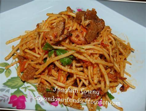 2.920 resep spaghetti bolognaise ala rumahan yang mudah dan enak dari komunitas memasak terbesar dunia! Spaghetti Goreng Bonda - Tips Resep Cara Membuat