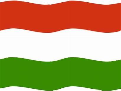 Flag Hungary Clipart Hungarian Clip Austria Wave