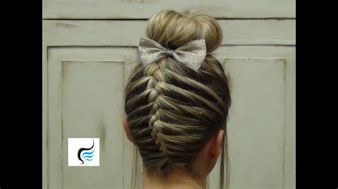 (french Braid Sock Bun) Girls Hairstyles