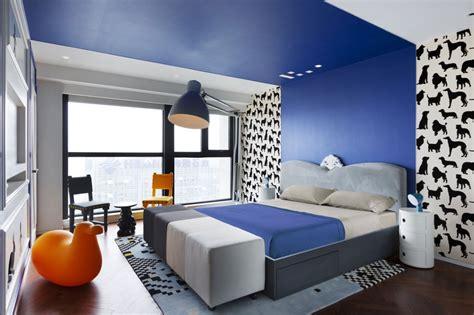 plafond de chambre idee deco chambre peinture