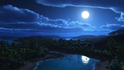 fondo fondo paisaje luna en fondos de pantalla