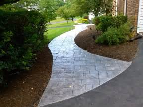 sted concrete walkway ashlar slate pattern sted