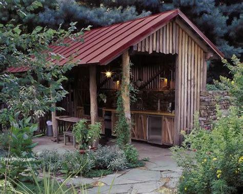 rustic outdoor kitchen houzz