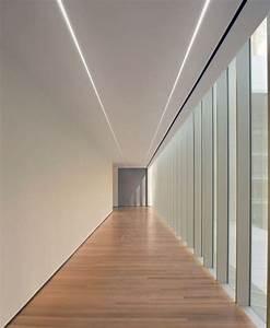 lampe a encastrer fluorescent en aluminium extrude pour With porte d entrée alu avec dalle plafond salle de bain