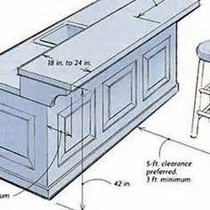 Basement Bar Measurements by Breakfast Bar Dimensions Design Search Remodel