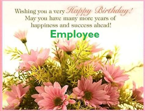 Related Of Birthday Wishes Employee Samples