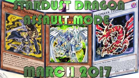 ygopro stardust dragon assault mode deck march 2017 youtube