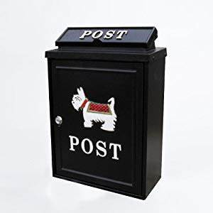 black lockable wall hanging post mail letter box with With hanging letter box