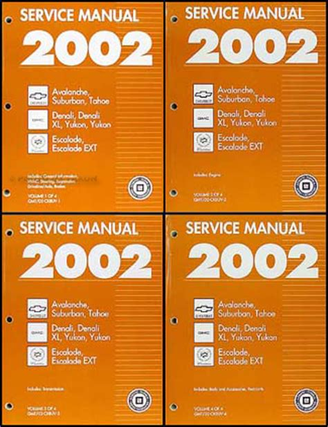 online service manuals 2002 gmc yukon xl 2500 parking system search