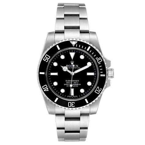 Rolex Black Stainless Steel Submariner Automatic 114060 ...