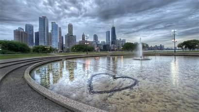 Fountain Building Chicago Illinois Heart Hdr Resolution