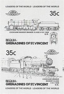 Bequia Leaders of the World 35c 2nd Series Locomotives ...
