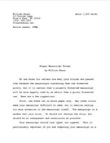 What Is The Proper Way To Format A Resume by Proper Manuscript Format For Fiction Writers William Shunn