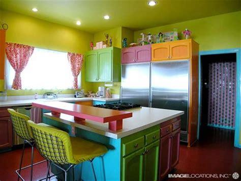 colorful  fashionable kitchen designs