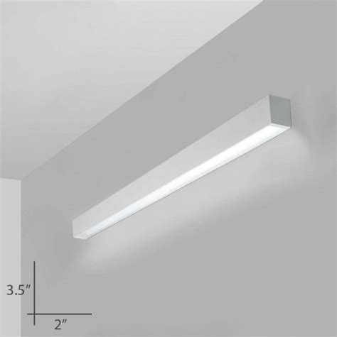 alcon lighting 12100 23 w d continuum 23 series architectural led 4 foot linear wall mount