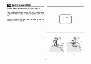 Sewing Straight Stitch