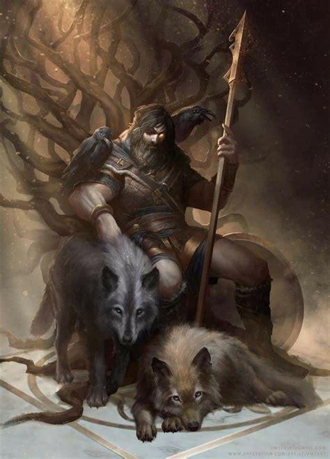 young odin deuses vikings mitologia nordica arte nordica