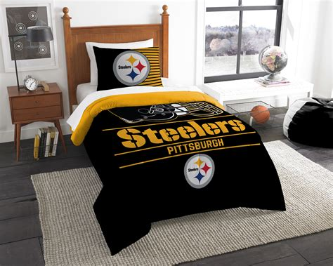 pittsburgh steelers draft twin comforter set