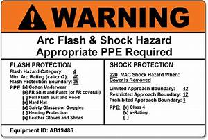 Cascade labelingtm die cut labels w ink printed warning for Arc flash stickers