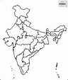 India free map, free blank map, free outline map, free ...