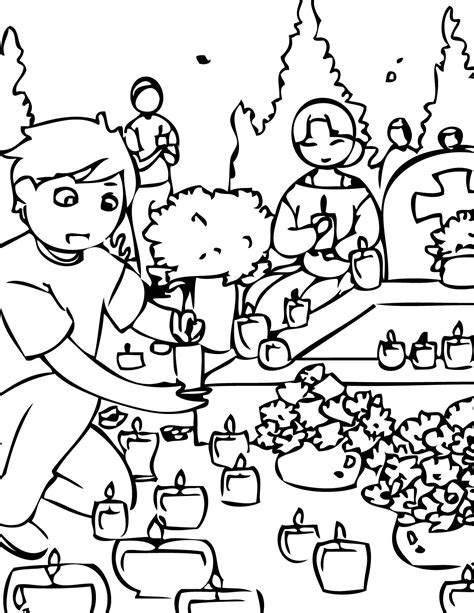 All Saints Day Coloring Pages Home