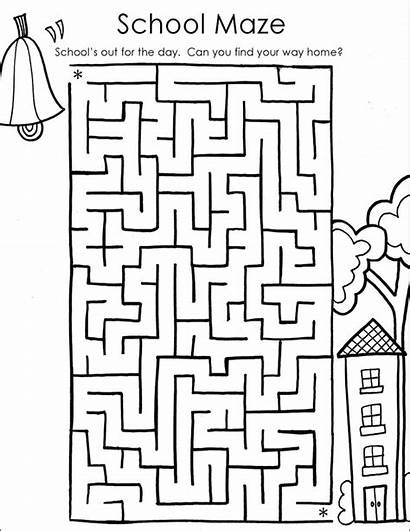 Coloring Maze Pages Printable Mazes Classroom Printables
