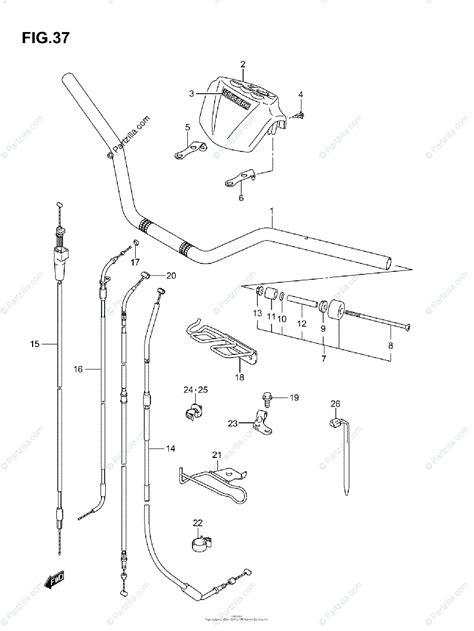 Kfx400 Wiring Diagram by Suzuki Atv 2003 Oem Parts Diagram For Handlebar Model K3