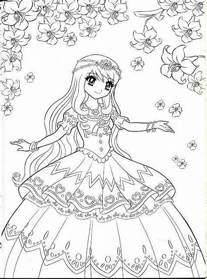 Coloring Anime Pages Princess Adult Printable Mia
