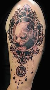 dog portrait frame tattoo | Inked up- tattoo ideas ...