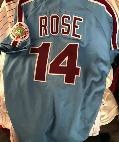Pete Rose Phillies Jersey Playoffs Gameused 1983