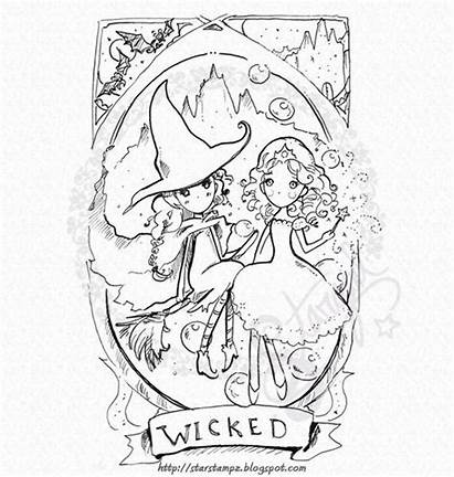 Wicked Glinda Elphaba Digital Stamp Musical Instant