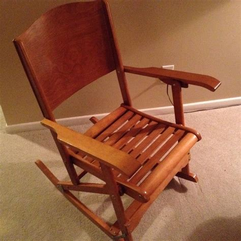 Folding Rocking Lawn Chair Canada by Antique Canadian Made Folding Rocking Chair Clements 218