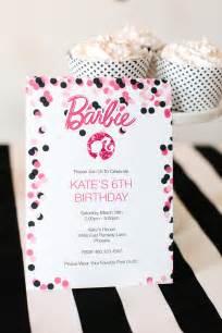 Free Printable Barbie Birthday Party Invitations