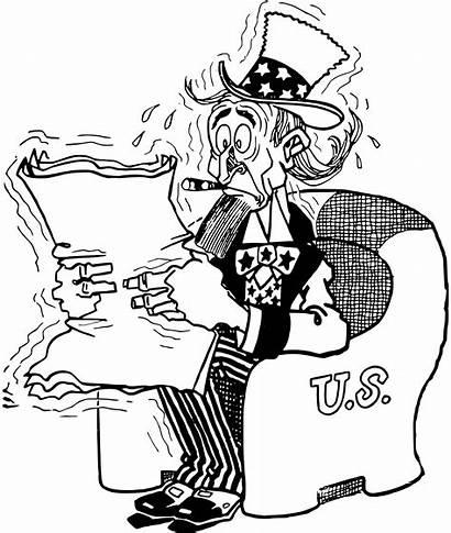 Uncle Sam Clipart Nervous Drawing Clip Cartoon