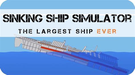 uss indianapolis sinking simulation sinking ship simulator uss inmersabilis largest ship